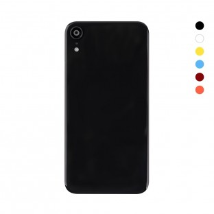 iPhone Xr Back Cover Battery Cover Back Cover with Camera Lens Black (A1984, A2105, A2106, A2107)