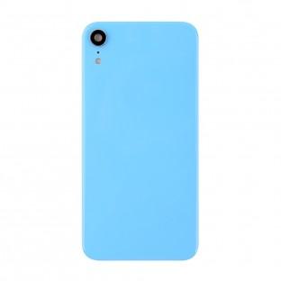 couvercle arrière de batterie pour iPhone Xr avec objectif de caméra Bleu (A1984, A2105, A2106, A2107)