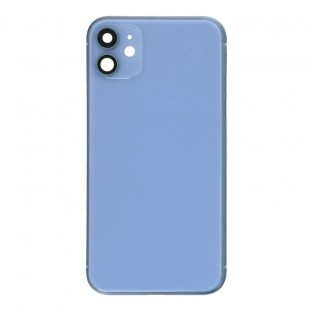iPhone 11 back cover / back shell with frame and small parts pre-assembled purple (A2111, A2221, A2223)