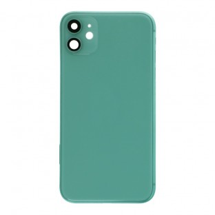 iPhone 11 back cover / back shell with frame and small parts pre-assembled green (A2111, A2221, A2223)