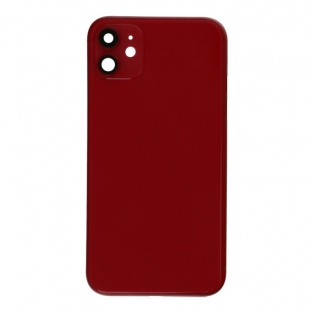 iPhone 11 back cover / back shell with frame and small parts pre-assembled red (A2111, A2221, A2223)