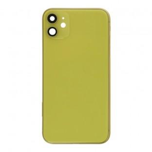 iPhone 11 Backcover / Rückschale mit Rahmen und Kleinteilen vormontiert Gelb (A2111, A2221, A2223)