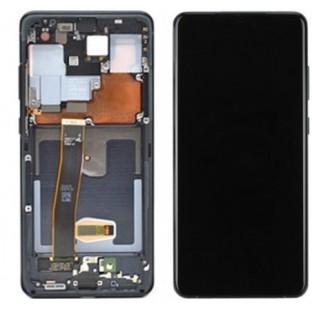 Samsung Galaxy S20 Ultra LCD Digitizer Ersatzdisplay + Rahmen Vormontiert Schwarz