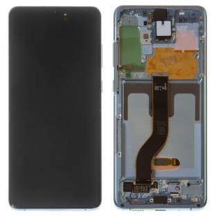 Samsung Galaxy S20 Plus (5G) LCD Digitizer Replacement Display + Frame Preassembled Blue