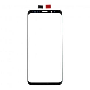 Glas mit Rahmen für Samsung Galaxy S9 Schwarz