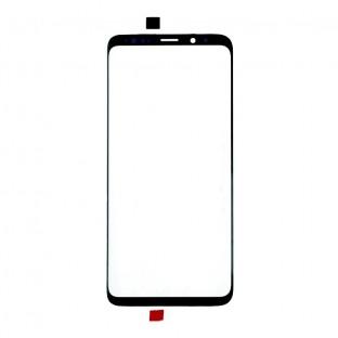 Glas mit Rahmen für Samsung Galaxy S9 Plus Schwarz