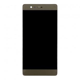 Huawei P9 Plus LCD Ersatzdisplay Gold mit Rahmen vormontiert