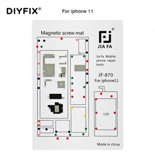 Magnetische Schraubenhalter-Matte für iPhone 11