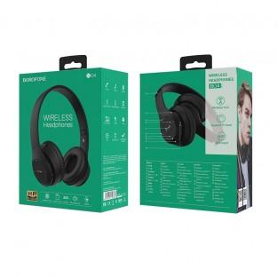 Borofone Wireless Headphones On Ear Black