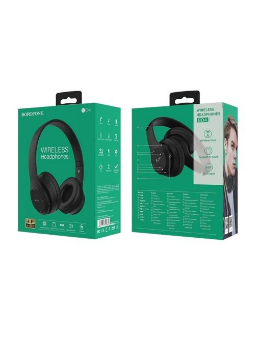 Borofone Wireless Kophörer On Ear Schwarz