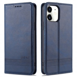 iPhone 12 / 12 Pro case / cover in leather look blue