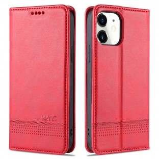 iPhone 12 / 12 Pro case / cover leather look red