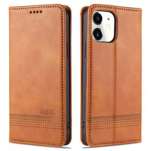 iPhone 12 / 12 Pro Leder Tasche / Hülle Beige