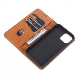 iPhone 12 Pro Max Leder Tasche / Hülle Beige