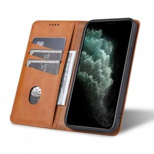 iPhone 12 Pro Max Leder Tasche / Hülle Braun