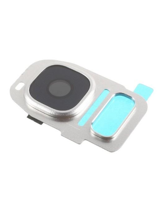 Samsung Galaxy S7 Edge / S7 Kamera Linse Glas + Abdeckung Silber