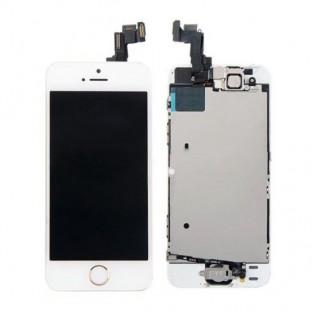 iPhone SE / 5S LCD Digitizer Rahmen Komplettdisplay Weiss Vormontiert
