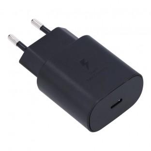 Chargeur 25W avec connecteur USB-C pour les appareils Samsung Noir