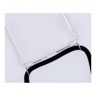 Samsung Galaxy S21Ultra Necklace Custodia per cellulare in gomma con cavo nero
