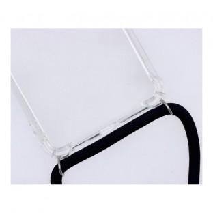 Samsung Galaxy S21 Plus Necklace Étui en caoutchouc pour téléphone portable avec cordon noir