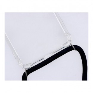 Samsung Galaxy S21 Plus Necklace Handyhülle aus Gummi mit Kordel Schwarz
