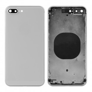iPhone 8 Plus Backcover / Rückschale mit Rahmen vormontiert Silber