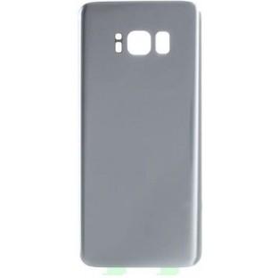 Samsung Galaxy S8 Plus Backcover Rückschale mit Kleber Silber