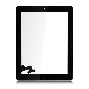 iPad 2 Touchscreen Glas Digitizer Schwarz Vormontiert