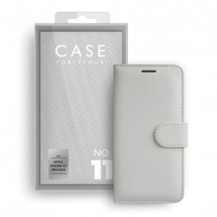 Case 44 custodia pieghevole con porta carte di credito per iPhone 13 Pro Max White (CFFCA0667)