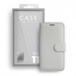 Case 44 Étui pliable avec porte-carte de crédit pour iPhone 13 Pro Max blanc (CFFCA0667)