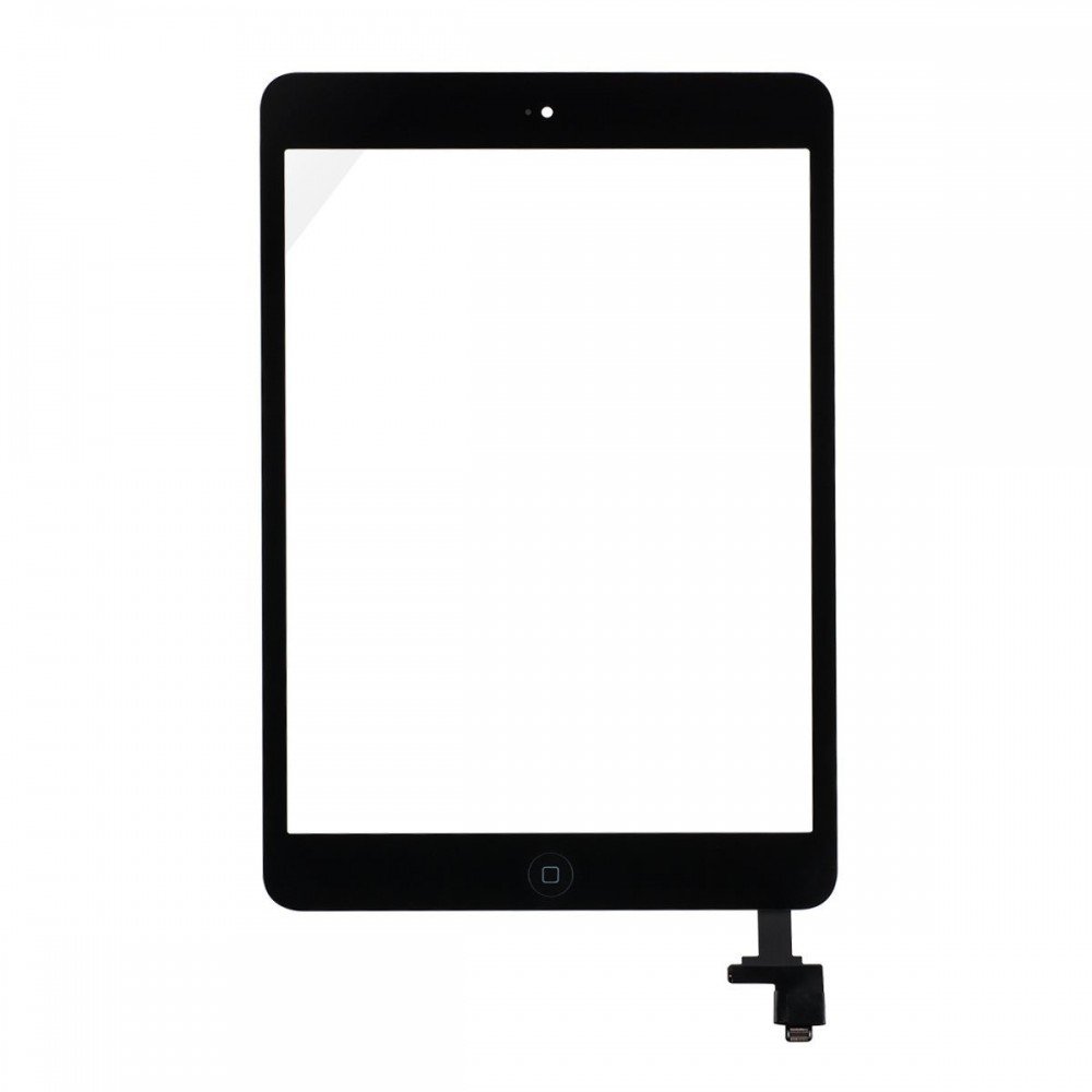 iPad Mini Touchscreen Glas Digitizer + IC Connector OEM Schwarz Vormontiert
