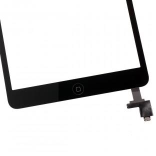 iPad Mini 1 / 2 Touchscreen Glas Digitizer + IC Connector Schwarz Vormontiert (A1432, A1454, A1455, A1489, A1490, A1491)