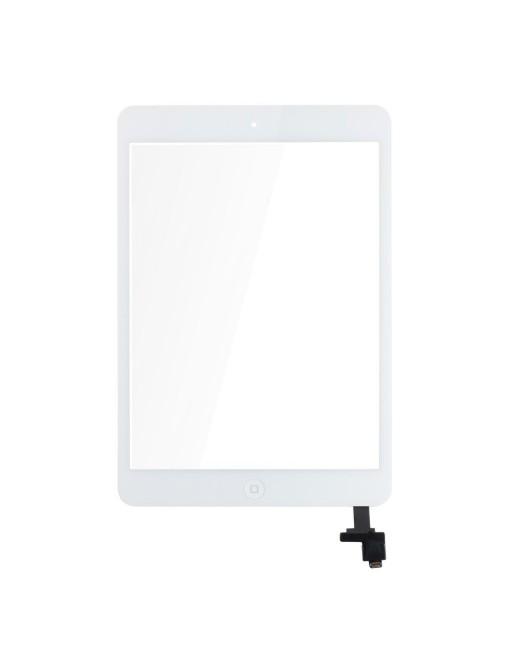 iPad Mini 1 / 2 Touchscreen Glas Digitizer + IC Connector Weiss Vormontiert (A1432, A1454, A1455, A1489, A1490, A1491)