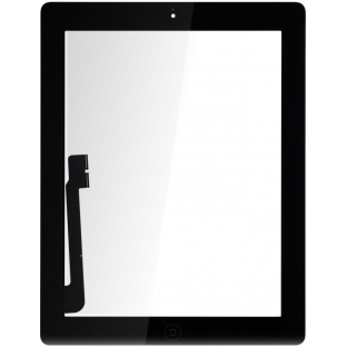 iPad 3 Touchscreen Glas Digitizer OEM Schwarz Vormontiert