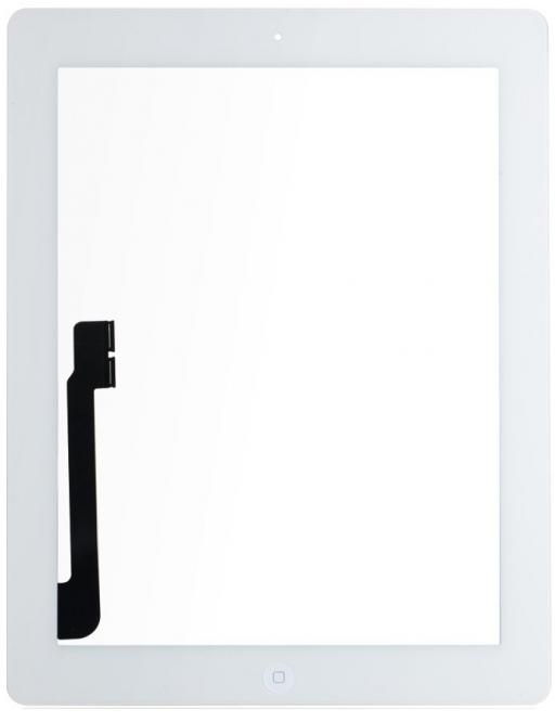 iPad 3 Touchscreen Glas Digitizer Weiss Vormontiert (A1416, A1430, A1403)