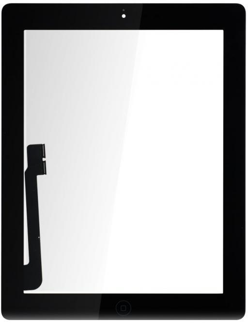 iPad 4 Touchscreen Glas Digitizer Schwarz Vormontiert (A1458, A1459, A1460)