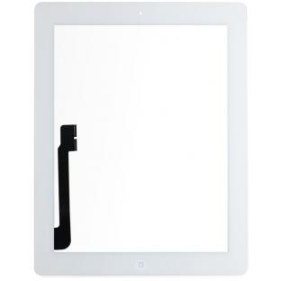 digitateur en verre pour écran tactile de l'iPad 4, blanc, préassemblé (A1458, A1459, A1460)