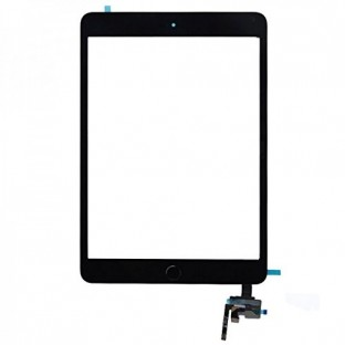 iPad Mini 3 Touchscreen Glas Digitizer + IC Connector Schwarz Vormontiert