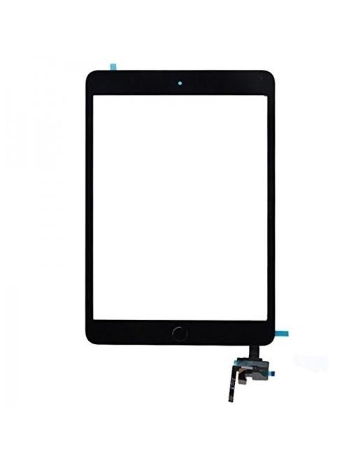 iPad Mini 3 Touchscreen Glas Digitizer + IC Connector Schwarz Vormontiert (A1599, A1600)