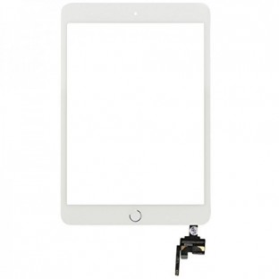 iPad Mini 3 Touchscreen Glas Digitizer + IC Connector Weiss Vormontiert