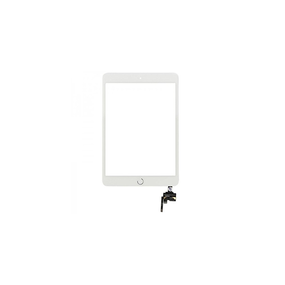 iPad Mini 3 Touchscreen Glas Digitizer + IC Connector OEM Weiss Vormontiert