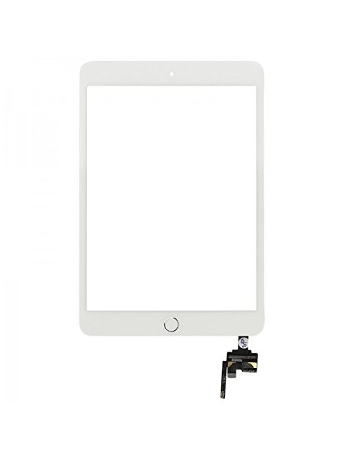 iPad Mini 3 Touchscreen Glas Digitizer + IC Connector Weiss Vormontiert (A1599, A1600)