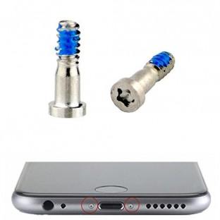 2 x iPhone 7 Plus / 7 Pentalobe Schrauben Weiss / Silber für LCD Display