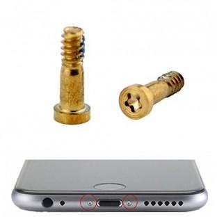 2 x iPhone 7 Plus / 7 Vis Pentalobe Or pour écran LCD