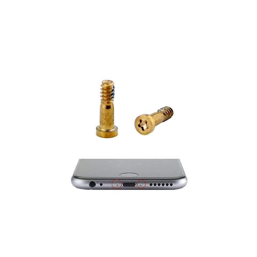 2 x iPhone 7 Plus / 7 Pentalobe Schrauben Gold für LCD Display