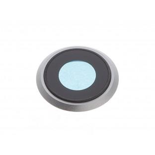 iPhone 8 Kamera Linse für Gehäuse Backcover Silber