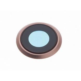 iPhone 8 Kamera Linse für Gehäuse Backcover Gold (A1863, A1905, A1906)