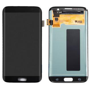 Samsung Galaxy S7 Edge LCD Digitizer Front Ersatzdisplay OEM Schwarz