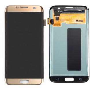 Samsung Galaxy S7 Edge LCD Ersatzdisplay OEM Gold