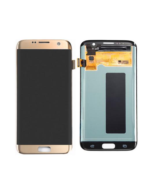 Samsung Galaxy S7 Edge LCD Digitizer Front Ersatzdisplay Gold